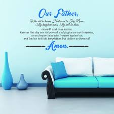 Christian Wall Decal Our Father Who Art In Heaven Deliver Us From Evil