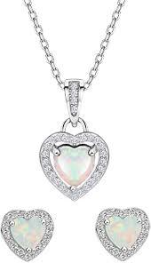 mints opal jewelry set sterling silver