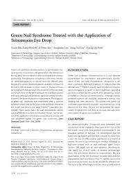 pdf green nail syndrome treated with