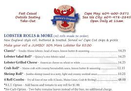 Original Lobster Rolls menu in Cape May ...