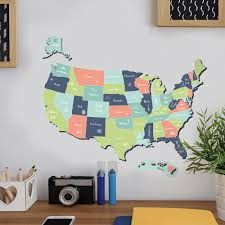 Usa Map Wall Decal Main Street