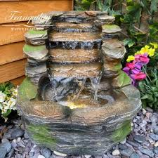 solar resin water feature ideas