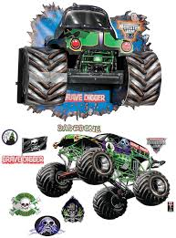 Monster Jam 3d Giant Decals And Wall Burst Kit Partybell Com