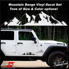 Mountain Range Sticker Decal Graphics Car Truck Jeep Pnw Jdm Vinyl Tree Forest Mountain Decal Car Decals Stickers Jeep Decals