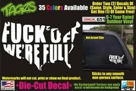 Usa F K Off We Re Full Funny Diecut Vinyl Window Decal Sticker Car Truck Jdm Ebay