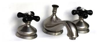 widespread bath faucet black porcelain
