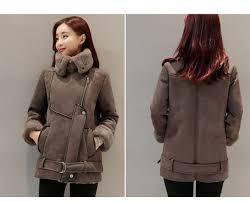 women suede leather fleece lining