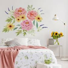 Wallpops Pretty Peonies Pink Wall Decal Dwpk3524 The Home Depot
