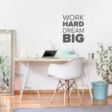 Work Hard Dream Big Decal Wall Decal Office Motivational Etsy