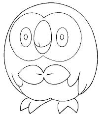 Coloring Pages Pokemon Rowlet Drawings Pokemon Kleurplaten