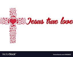 cross heart love royalty free vector image