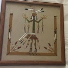 NAVAJO SAND PAINTING NATIVE AMERICAN DESIGN - LESTER JOHNSON | eBay