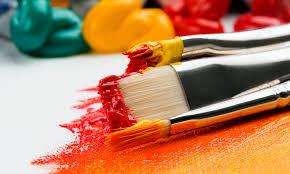 between oil paints acrylic paint