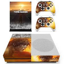 Shadow Of Tomb Raider Skin Sticker Decal For Xbox One S Console And Controllers For Xbox One Slim Skin Stickers Vinyl Consoleskins Co