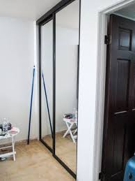 panel black aluminum framed closet