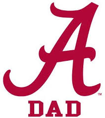 Amazon Com Alabama Crimson Tide Dad Clear Vinyl Decal Car Truck Sticker Bama Everything Else