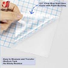 Adhesive Vinyl Transfer Paper Tape Sheet Roll Clear W Blue Alignment Grid Mid Tack Sign Vinyl Sticker Cutting Craft Decals Diy Patches Aliexpress