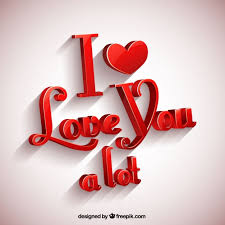 i love you a lot greeting card vector
