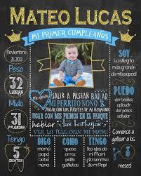 Mi Primer Cumpleanos Poster Principe Azul First Birthday Etsy