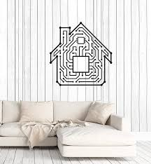 Amazon Com Vinyl Wall Decal Smart Home House Chip Technology Geek Art Stickers Mural Large Decor Ig5370 Home Kitchen