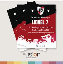 Tarjeta De Cumpleanos Tematica River Plate Fusion Diseno