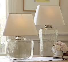 clear glass lamp from pottery barn