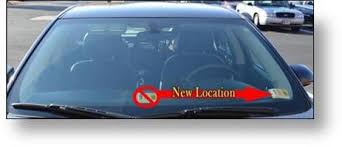 Virginia Inspection Stickers Moving Across The Windshield Transportation Insidenova Com