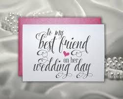 wedding gift card for best friend wedding bridal by picmatcards