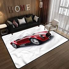 Amazon Com Cars Area Rugs For Kids Baby Bedroom Old Fashioned Vintage Car 4 X 5 Feet Kitchen Dining
