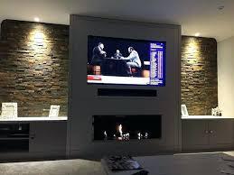 wall fireplace under tv vietdex info