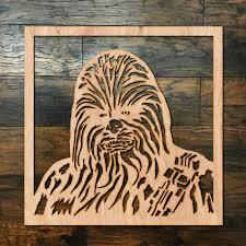 Chewbacca Square Wood Hanging Wall Art Zug Monster