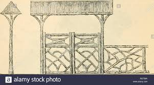 The Country Gentleman S Magazine Agriculture Agriculture Great Britain 92 Tjic Country Gcntlanaifs Magazine Garden Architecture I A Rustic Fence And Garden Entrance Gate This Very Elegant Design Is Copied From