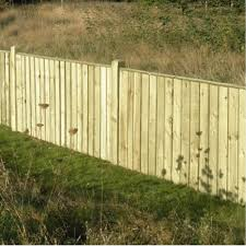 Feather Edge Fence Panel 3ft X 6ft Green Wooden Supplies