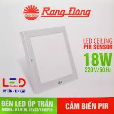 Đèn LED Ốp Trần Cảm Biến Rạng Đông ChipLED Samsung, Kiểu Dáng Hàn Quốc