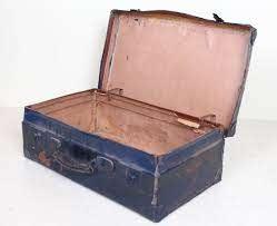 vintage suitcase chest steamer coffee