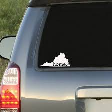 Virginia Home State Car Decal Sticker Car Decals Car Decals Stickers Baseball Monogram Decal