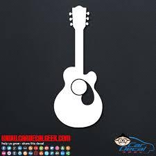 Acoustic Guitar Car Window Vinyl Wall Decal Sticker