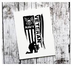 Navy Veteran Vinyl Decal Military Navy Decal Veteran S Etsy