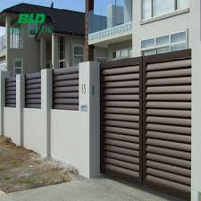 Adjustable Aerofoil Blade Garden Louver Fence View Louver Fence Bld Product Details From Ballede Shanghai Metal Products Co Ltd On Alibaba Com