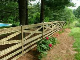 Country Style Wooden Fence Hmm I Know Our Neighbors Want To Do The X In Theirs But This Also Combines My Love For Backyard Fences Fence Styles Farm Fence