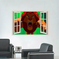 Lion King Simba Nala 3d Window Decal Wall Sticker Home Decor Art Mural