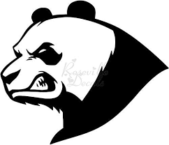 Amazon Com Angry Mean Panda Bear Vinyl Decal Sticker For Home Office Decor Vehicle Window Sign Size 15 Inch 38 Cm Wide Color Matte Black