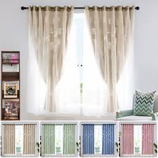Hollow Thermal Blackout Curtains Eyelet Ring Top Ready Made Curtain Mesh Kids Bedroom Drapes Walmart Com Walmart Com