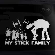Instock Star Wars At At Walker Die Cut Stick Family Car Decal Sticker Car Accessories On Carousell