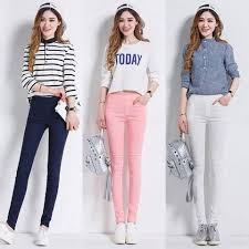 US Women Slim Skinny Leggings Pants Girls Stretch Pencil Pants ...