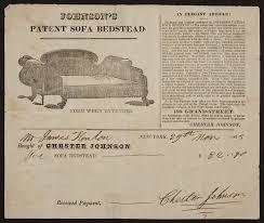 Billhead for Chester Johnson, Johnson's Patent Sofa Bed, 188 Grand ...