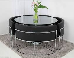 round glass dining table and chair set