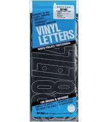 Duro Decal 48 Pk 6 Permanent Adhesive Vinyl Letters Numbers Black Joann