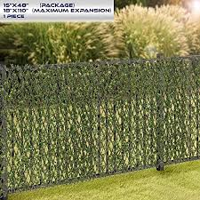 Windscreen4less Artificial Leaf Faux Ivy Expandable Stretchable Privacy Fence Screen Single Sided Leaves Buxus 1 Pack Amazon Ca Patio Lawn Garden