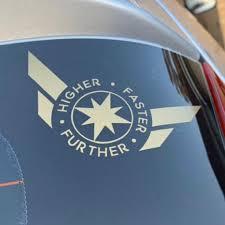 Higher Further Faster Captain Marvel Inspired Car Laptop Or Etsy